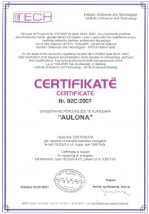 Certificate Nr 02C